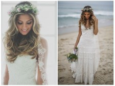 Tendência 2016: cabelos soltos para noivas